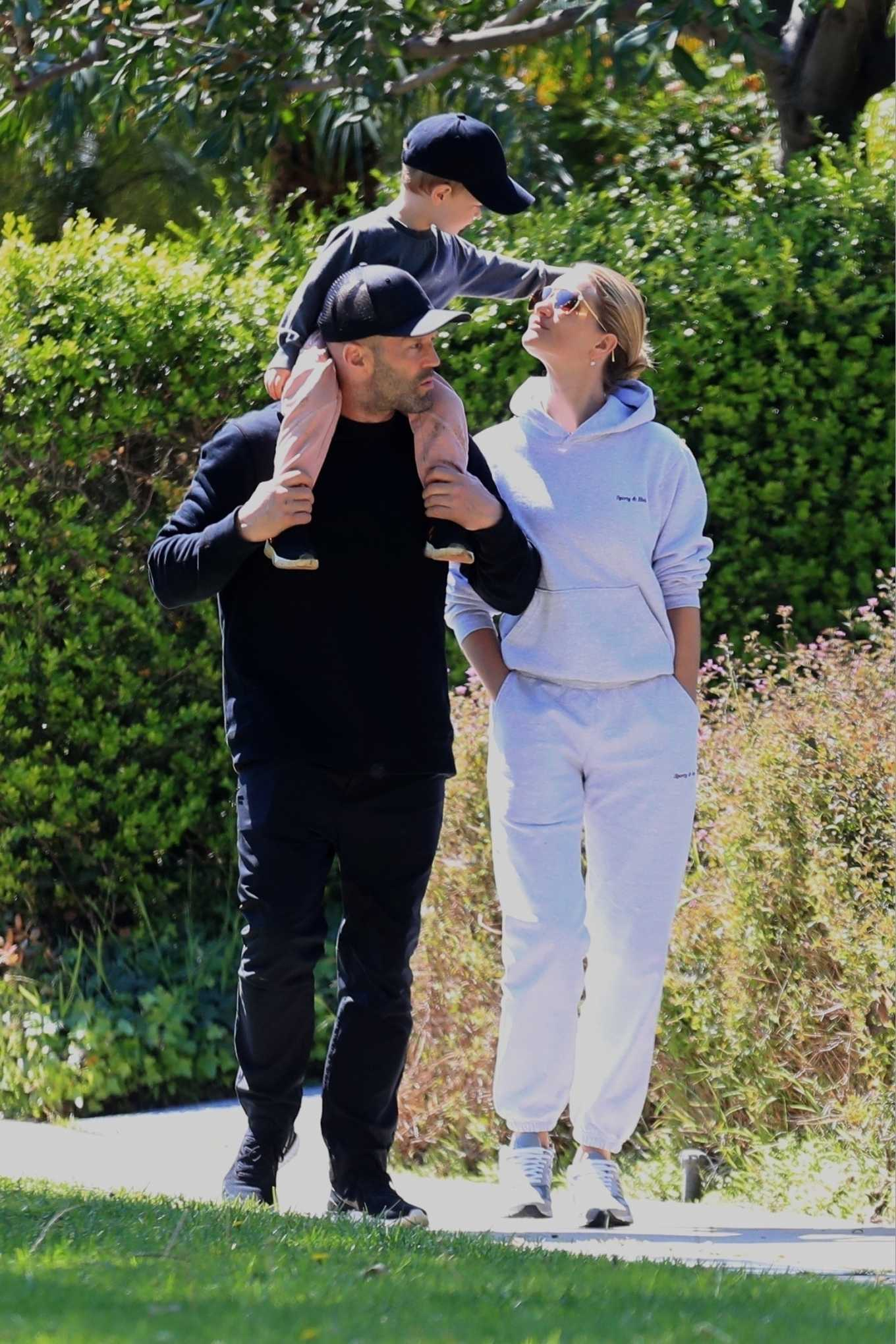 Rosie Huntington-Whiteley 2020 : Rosie Huntington-Whiteley – Out for a walk with a family in Beverly Hills -09