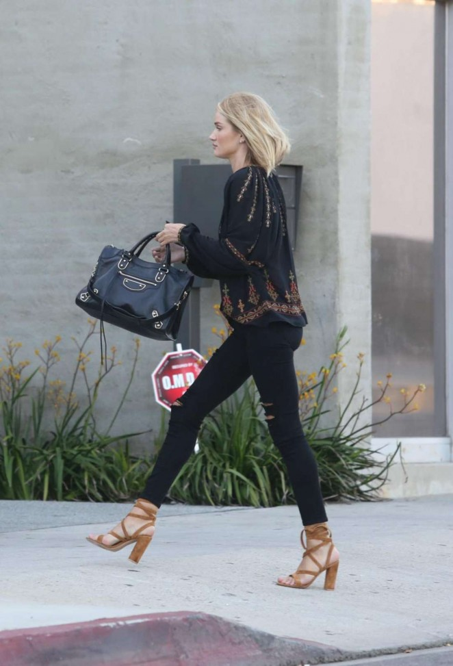 Rosie Huntington Whiteley out in Los Angeles