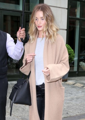 Rosie Huntington Whiteley out in New York City