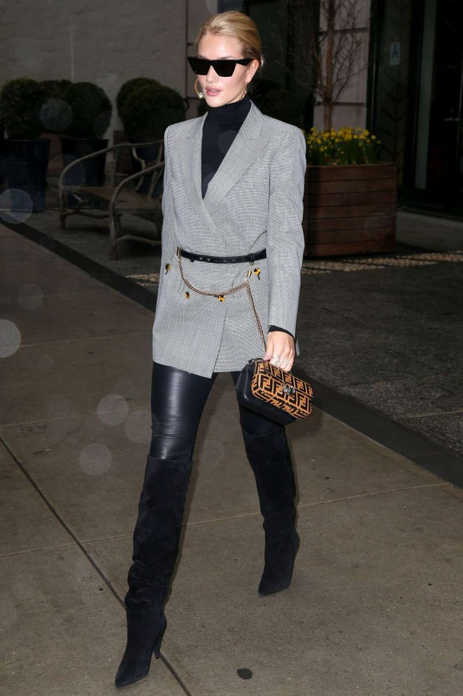 Rosie Huntington Whiteley out in New York