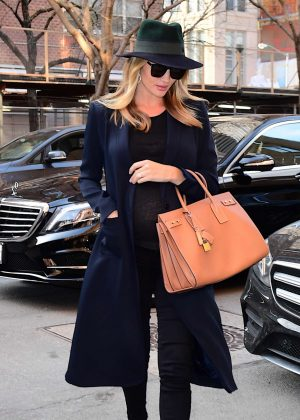 Rosie Huntington Whiteley out in NYC