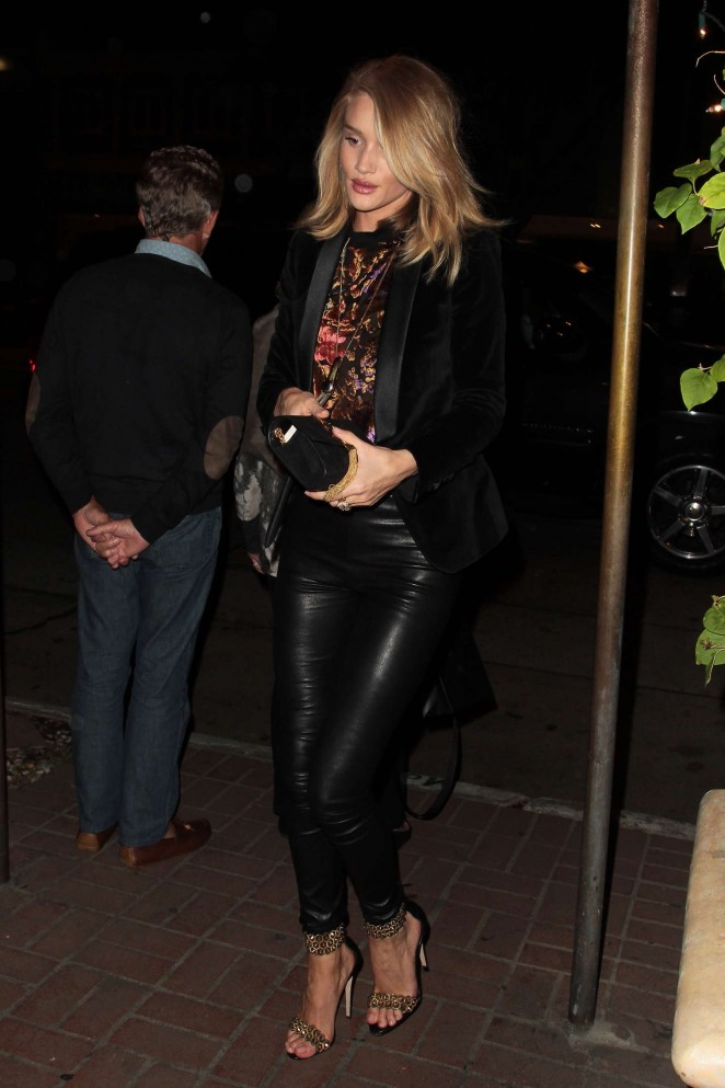 Rosie Huntington Whiteley in Leather Out in West Hollywood
