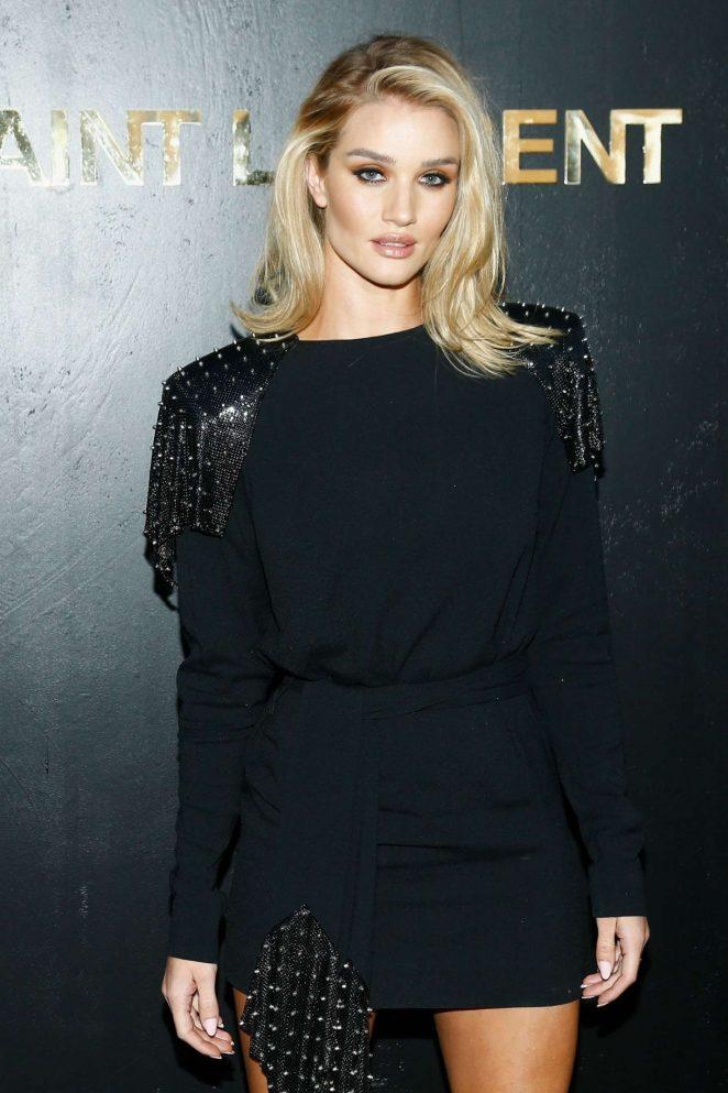 Rosie Huntington Whiteley - Saint Laurent Fashion Show in Paris