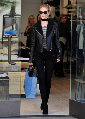 Rosie Huntington Whiteley - Shopping at The Grove in LA
