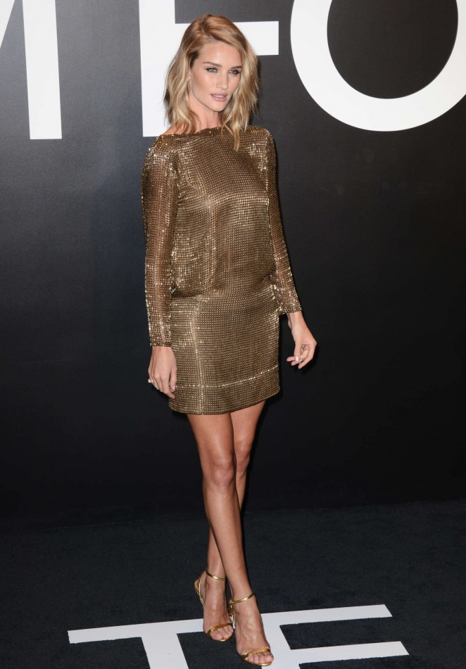 Rosie Huntington Whiteley: Tom Ford 2015 Womenswear Collection Presentation -05