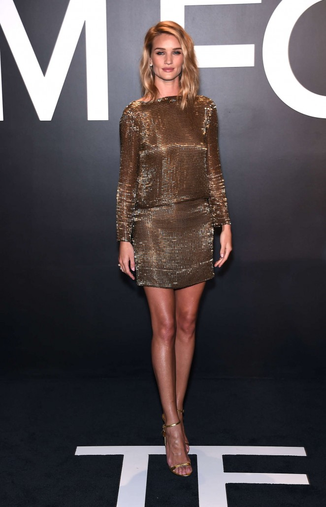 Rosie Huntington Whiteley: Tom Ford 2015 Womenswear Collection Presentation -06