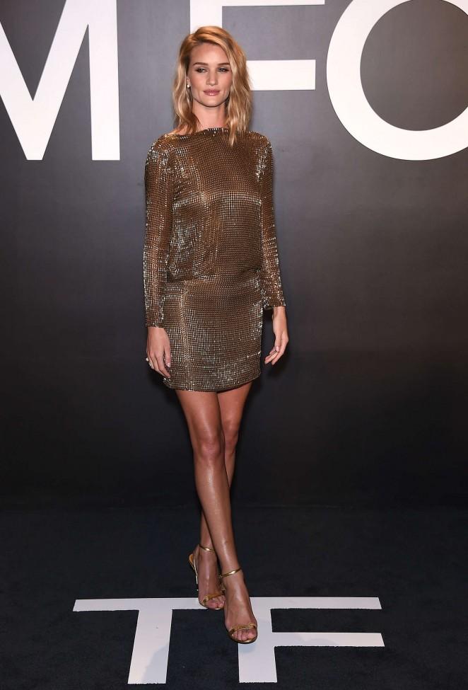 Rosie Huntington Whiteley: Tom Ford 2015 Womenswear Collection Presentation -14