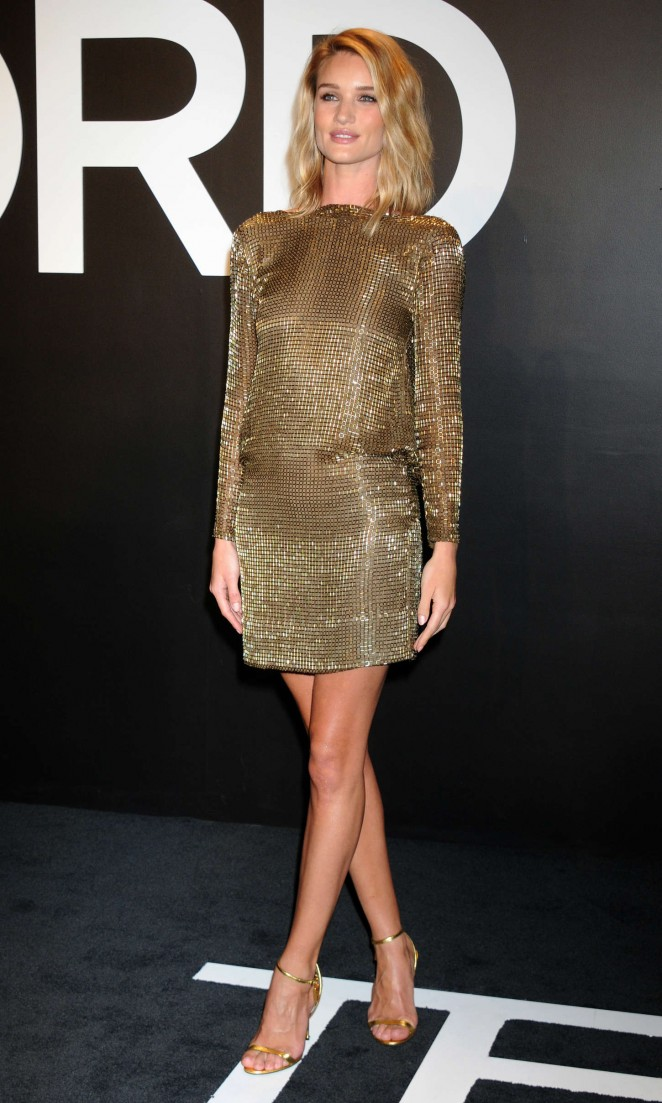 Rosie Huntington Whiteley: Tom Ford 2015 Womenswear Collection Presentation -28