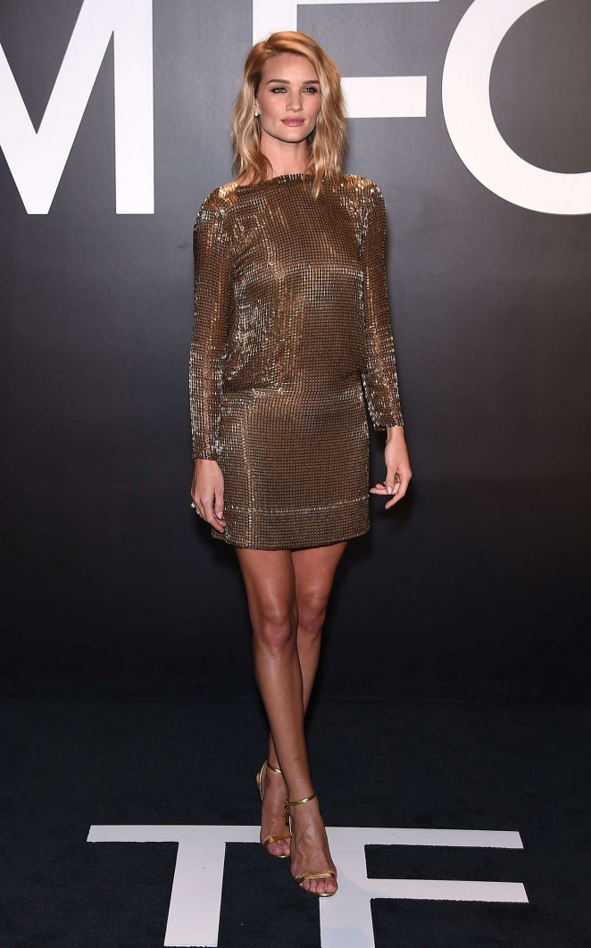 Rosie Huntington Whiteley: Tom Ford 2015 Womenswear Collection Presentation -41