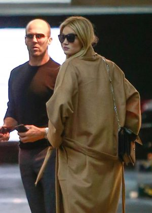 Rosie Huntington Whiteley with fiance Jason Statham out in Los Angeles