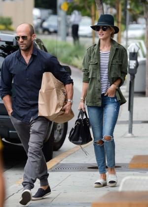 Rosie Huntington Whiteley with Jason Statham Shopping in West Hollywood