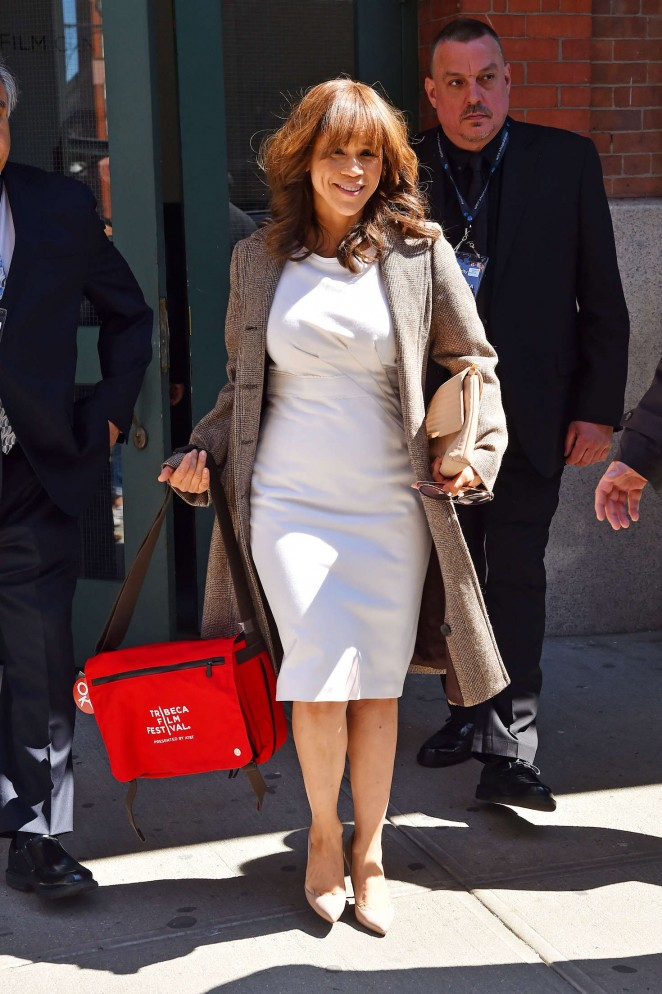 Rosie Perez out in Tribeca