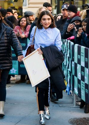 Rowan Blanchard - Arriving to AOL Build Series in New York City