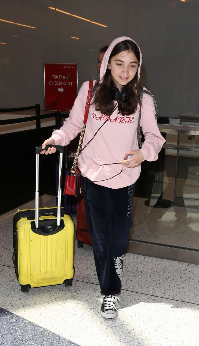 Rowan Blanchard at LAX Airport in Los Angeles
