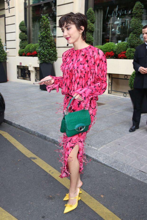 Rowan Blanchard - Leaving her hotel in Paris