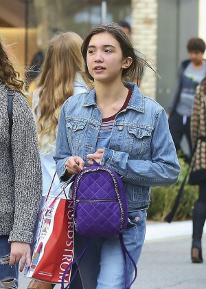 Rowan Blanchard in Jeans at The Grove in West Hollywood