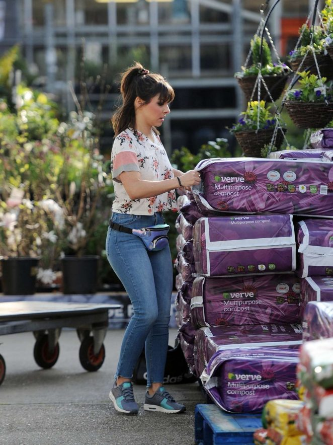 Roxanne Pallett at the Garden Centre in Manchester