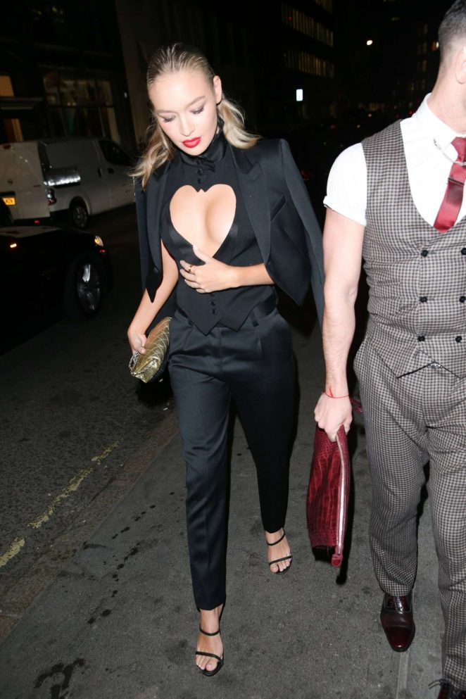 Roxi Horner - Arrives at the Joshua Kane Fashion Show in London