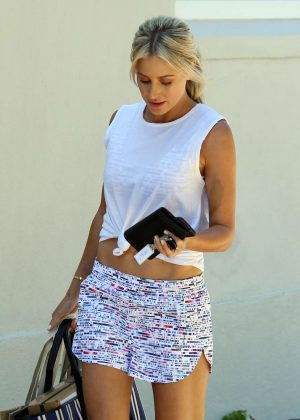 Roxy Jacenko in Shorts out in Paddington