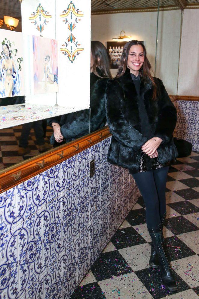 Ruby Aldridge - Ashes and Confetti celebration in New York