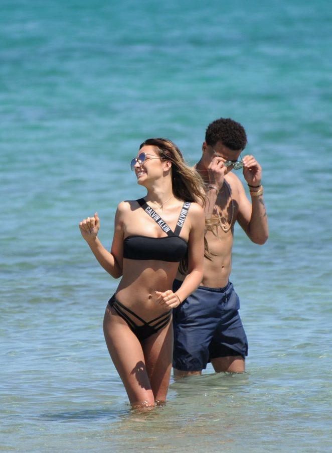 Ruby Mae in Bikini on the beach in Ibiza