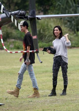 Ruby Rose and Jessica Origliasso at Heli Tour in Byron Bay