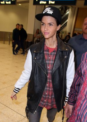 Ruby Rose arrives in Sydney