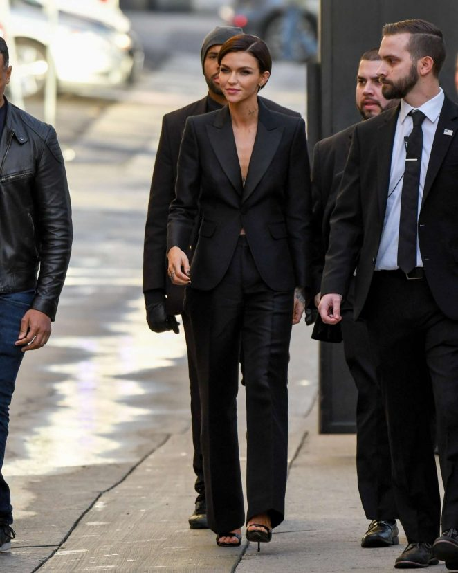 Ruby Rose: Arriving at Jimmy Kimmel Live -04
