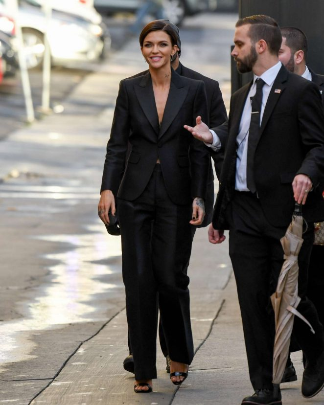 Ruby Rose: Arriving at Jimmy Kimmel Live -07