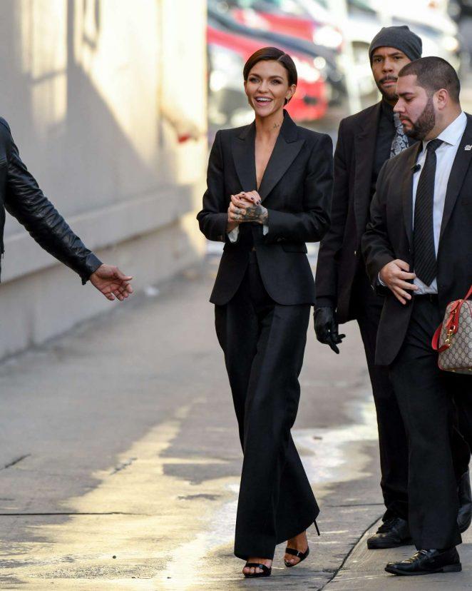 Ruby Rose: Arriving at Jimmy Kimmel Live -10