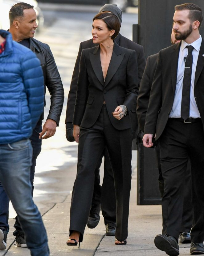 Ruby Rose: Arriving at Jimmy Kimmel Live -11