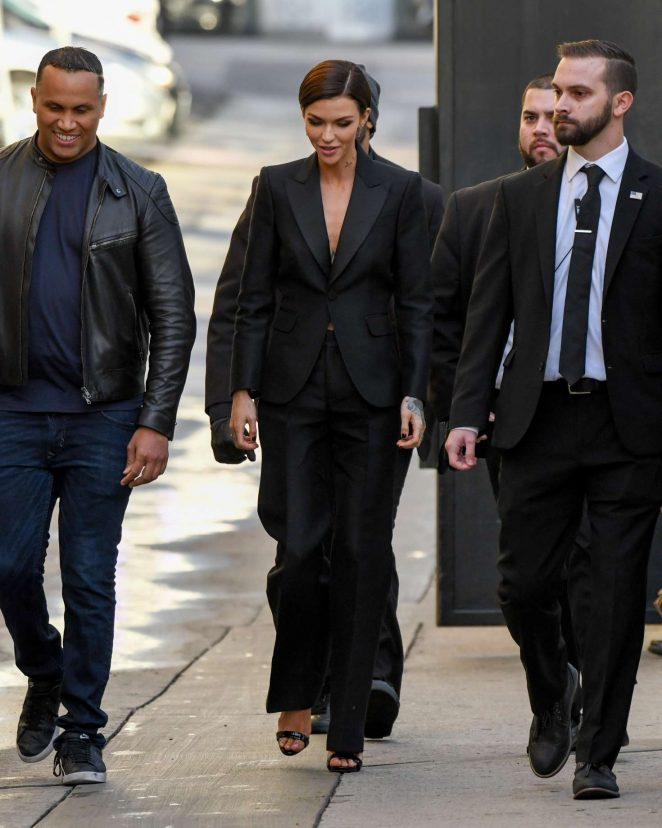 Ruby Rose: Arriving at Jimmy Kimmel Live -18