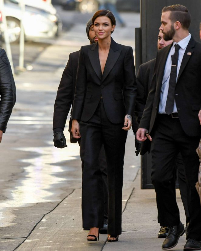 Ruby Rose: Arriving at Jimmy Kimmel Live -20