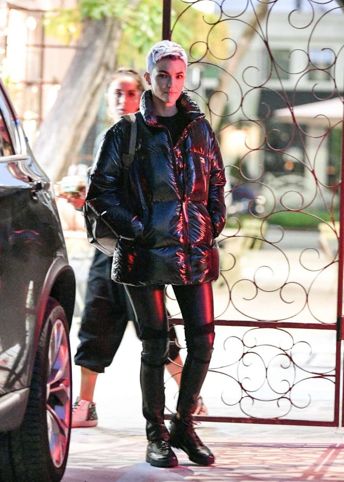 Ruby Rose at Nine Zero One salon in Los Angeles