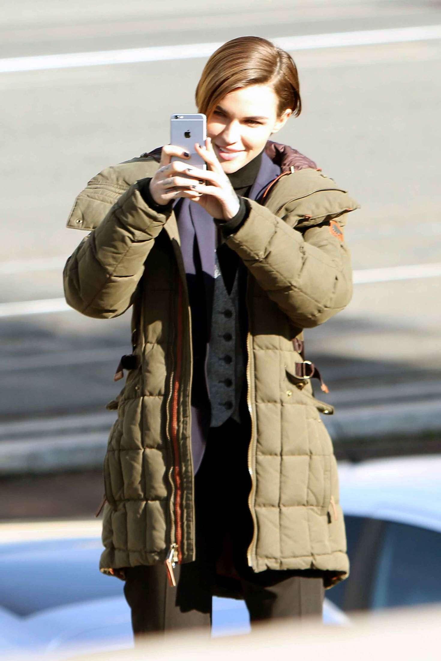 Ruby Rose Filming John Wick 2 01 Gotceleb