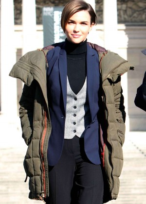 Ruby Rose - Filming 'John Wick 2' in Rome