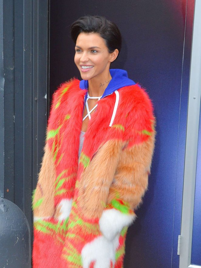 Ruby Rose Leaving Reebok Panel in NYC
