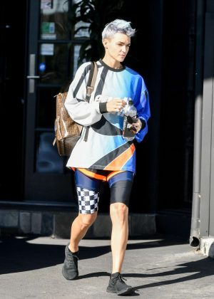 Ruby Rose - Leaving the gym in Los Angeles