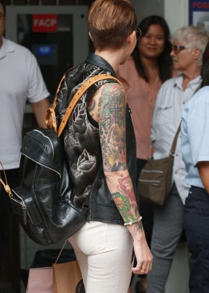 Ruby Rose in Jeans out in Los Angeles