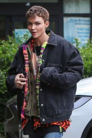 Ruby Rose - Seen as she arrives for lunch with a friend in West Hollywood