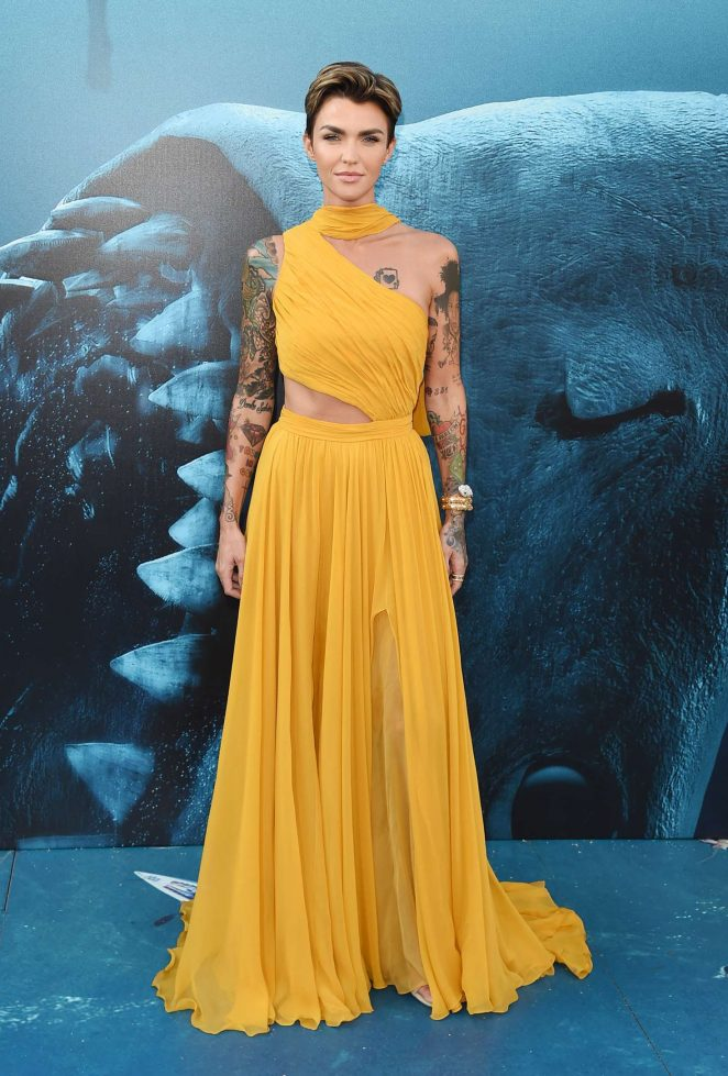 Ruby Rose – 'The Meg' Premiere in Los Angeles