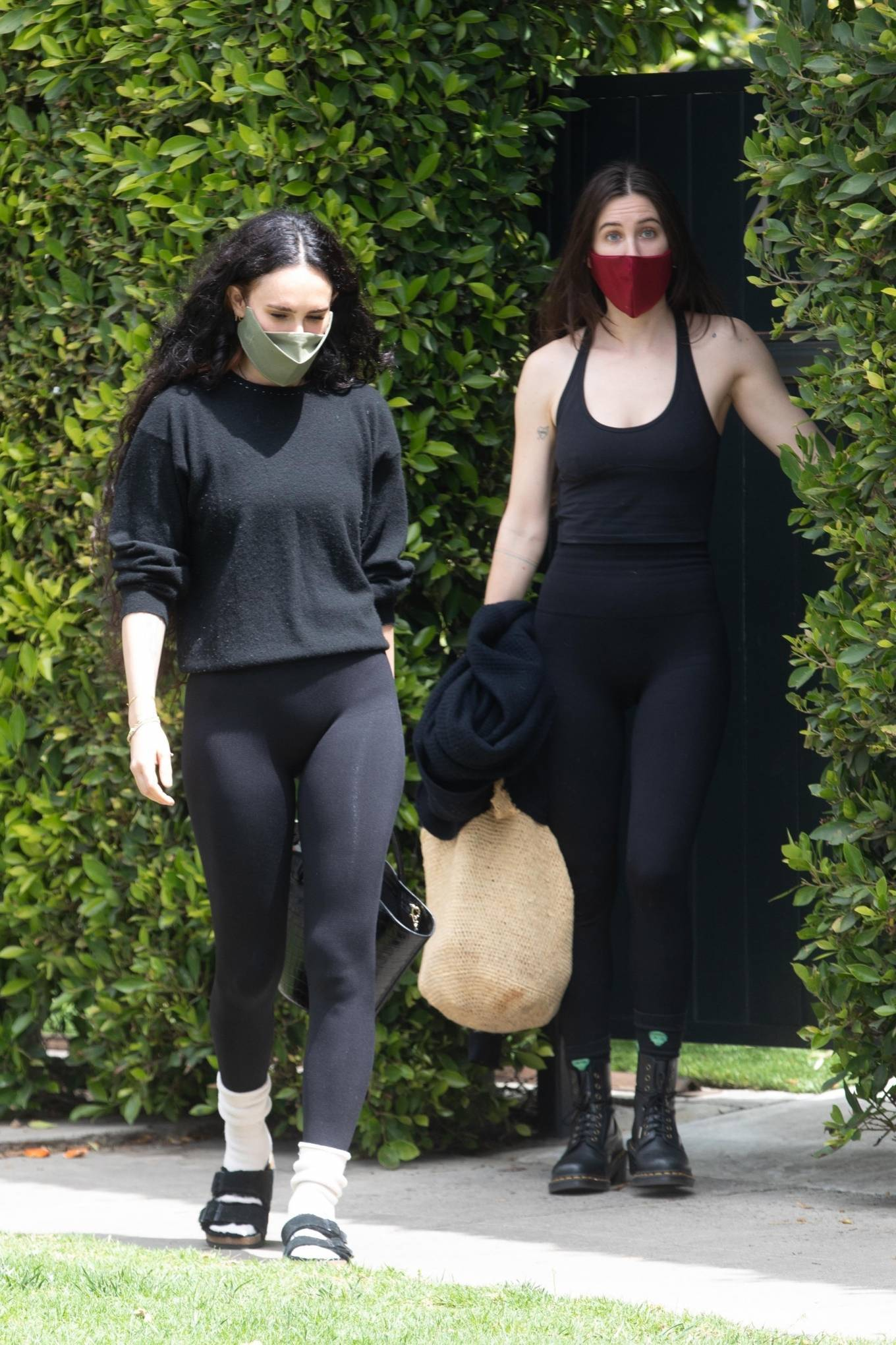 Rumer Willis 2021 : Rumer and Scout Willis – Out for a pilates session in West Hollywood-01