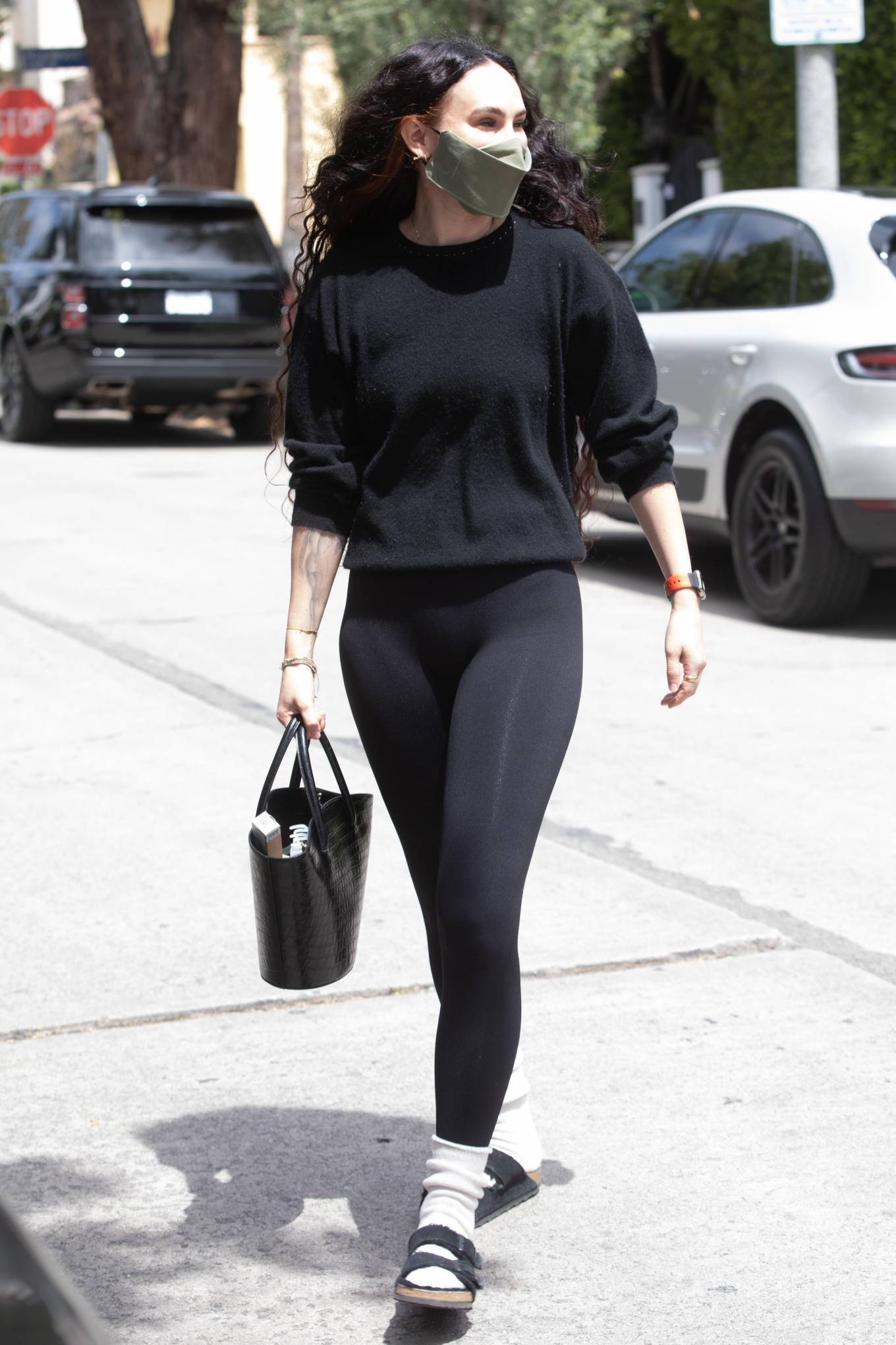 Rumer Willis 2021 : Rumer and Scout Willis – Out for a pilates session in West Hollywood-02