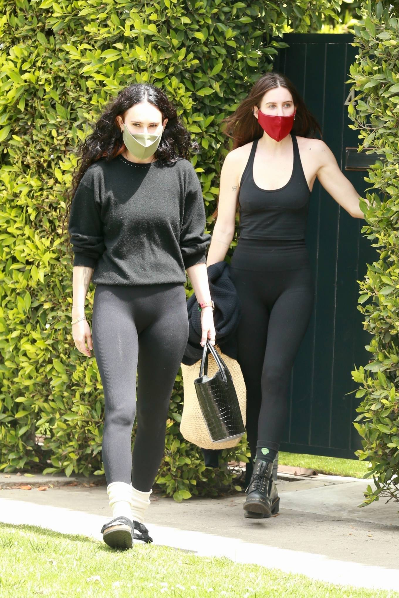 Rumer Willis 2021 : Rumer and Scout Willis – Out for a pilates session in West Hollywood-07