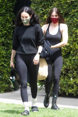 Rumer and Scout Willis - Out for a pilates session in West Hollywood