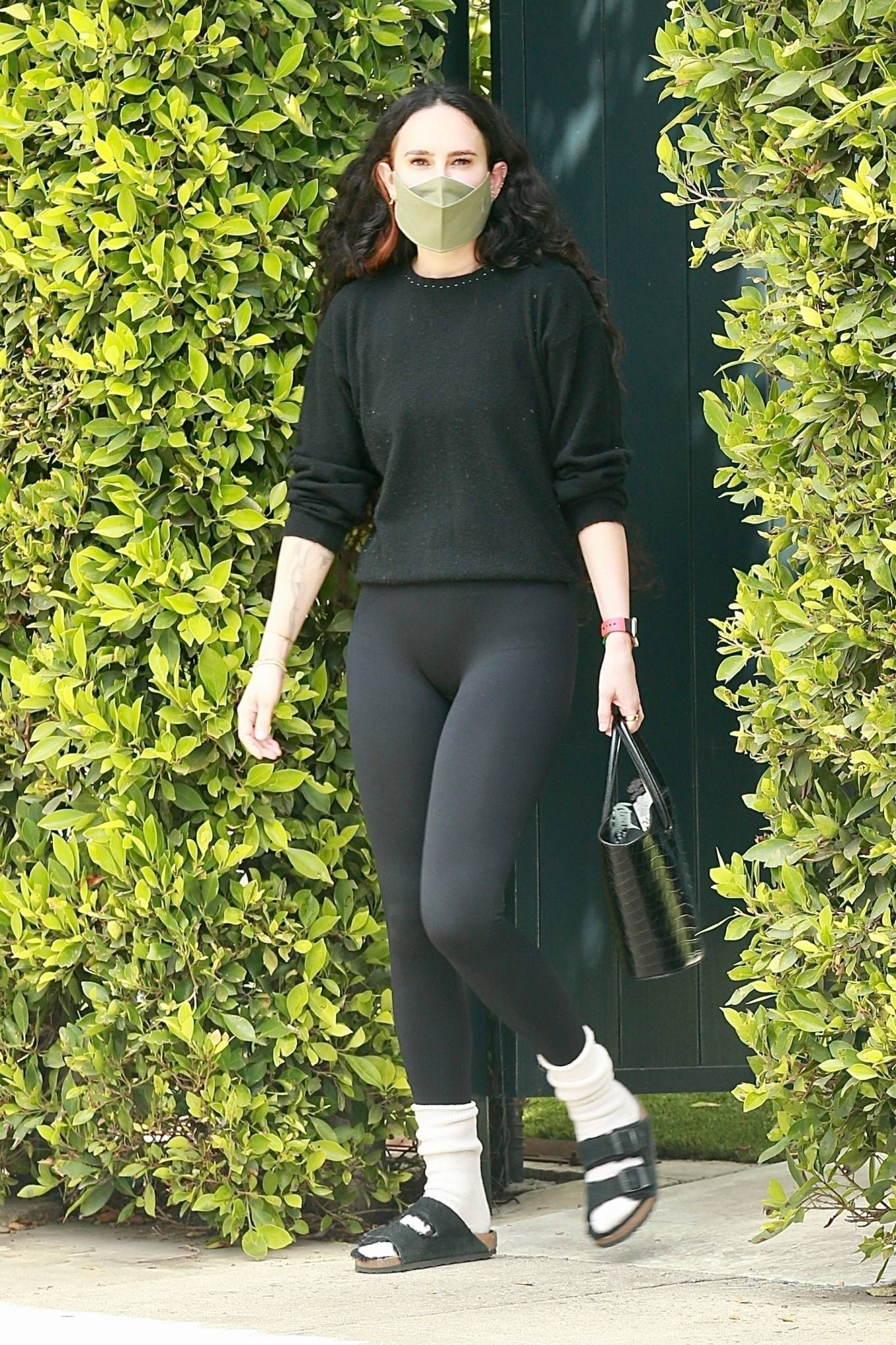 Rumer Willis 2021 : Rumer and Scout Willis – Out for a pilates session in West Hollywood-11