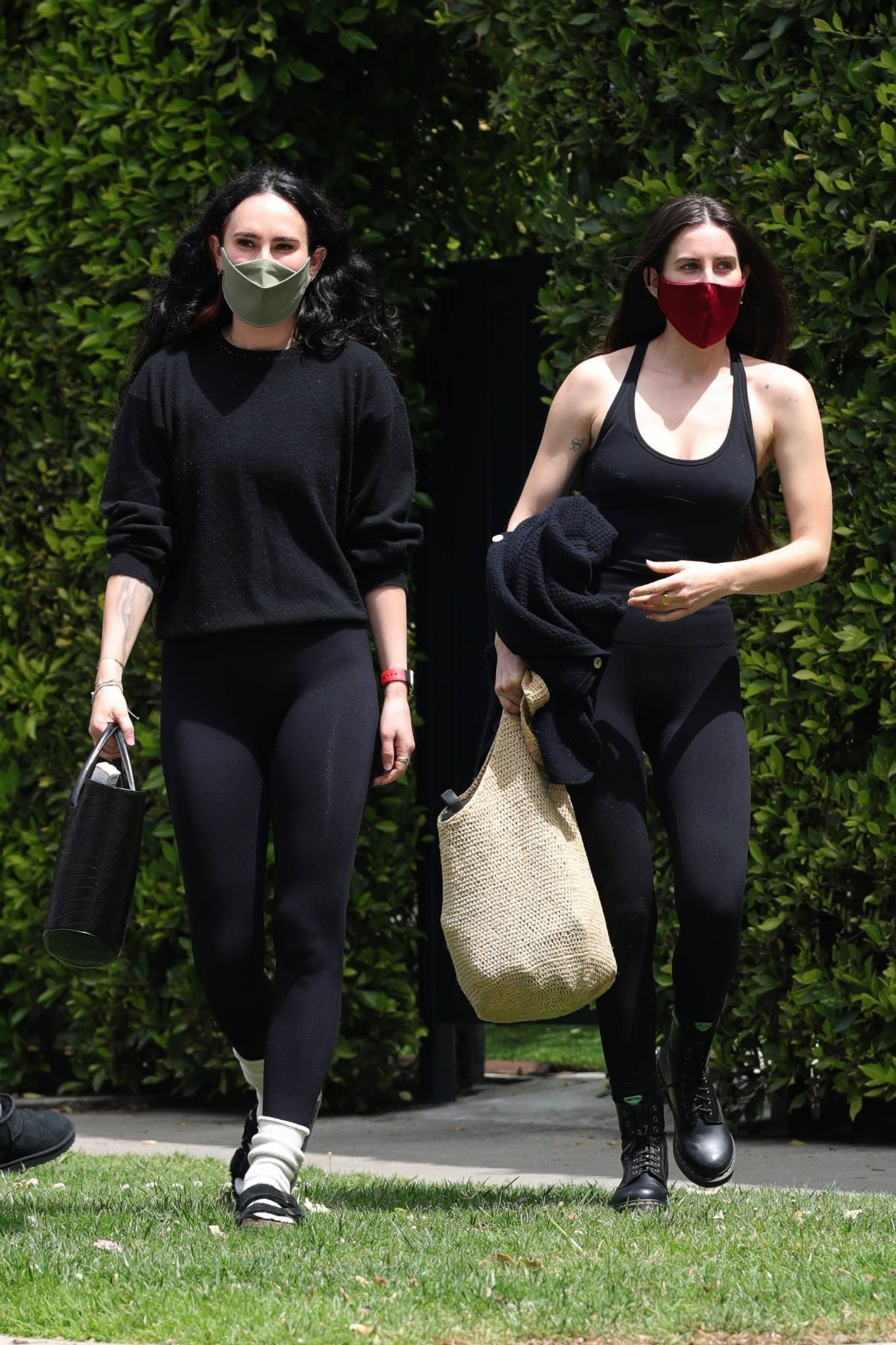 Rumer Willis 2021 : Rumer and Scout Willis – Out for a pilates session in West Hollywood-13