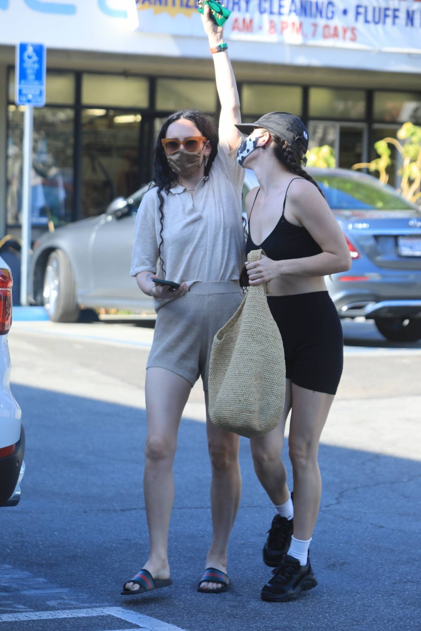 Rumer Willis 2021 : Rumer and Scout Willis – Spotted after a pilates class in West Hollywood-08