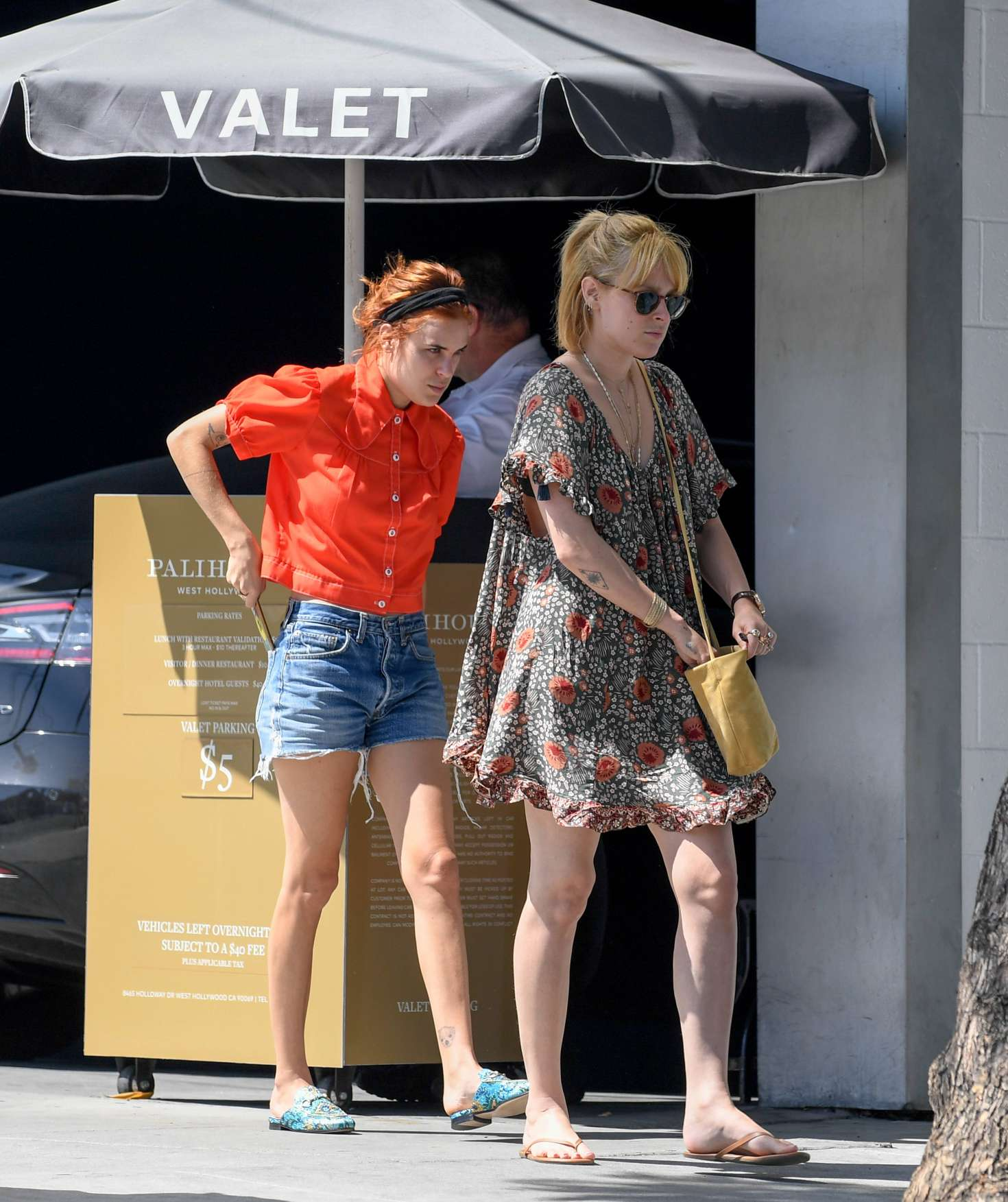 Rumer and Tallulah Willis at the Palihouse in West Hollywood
