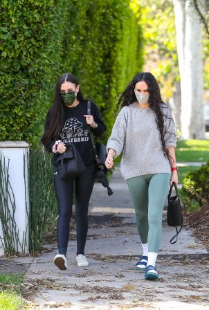 Rumer Willis and Demi Moore - Out for a stroll in Los Angeles